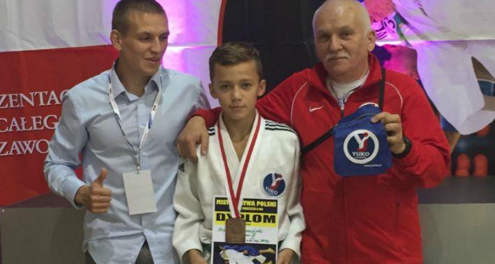 Judo, Szymon Szymański brązowym medalistą Mistrzostw Polski Młodzików - zdjęcie, fotografia