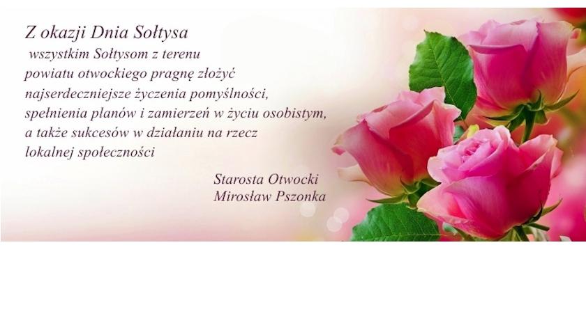 Życzenia, Życzenia Sołtysów powiatu otwockiego - zdjęcie, fotografia