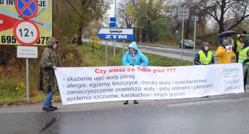 Ekologia, Deszczowy protest dzień drugi - zdjęcie, fotografia