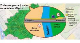 Zmiana organizacji ruchu na moście w Mlądzu