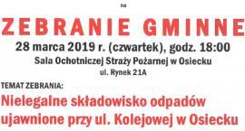 Zebranie w sprawie składowiska odpadów w Osiecku