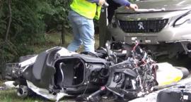 Śmierć motocyklisty na DW721 w Józefowie