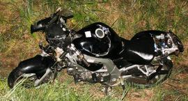 Tragiczne zderzenie motocyklisty z łosiem na DK50