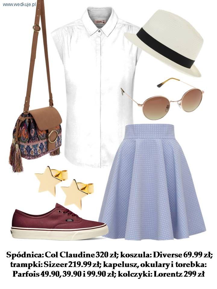 Moda, wiosny – rozkloszowana spódnica - zdjęcie, fotografia