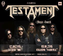 TESTAMENT (USA) nowa płyta i 2 koncerty w 2015 roku!