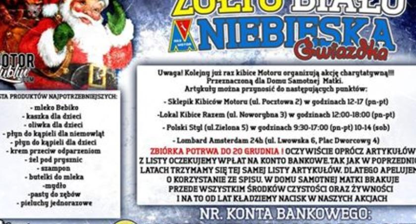 Piłka Nożna, Kibice Motoru Lublin pomogli potrzebującym! - zdjęcie, fotografia