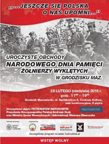Aktualności, Uroczyste obchody święta Żołnierzy Wyklętych Grodzisku objęte PATRONATEM NARODOWYM Prezydenta - zdjęcie, fotografia