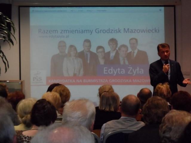 Aktualności, Przedwyborcze spotkanie Posłem Błaszczakiem - zdjęcie, fotografia