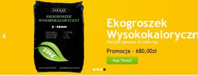 Listy czytelników, Ekogroszek wysocepatologiczny - zdjęcie, fotografia