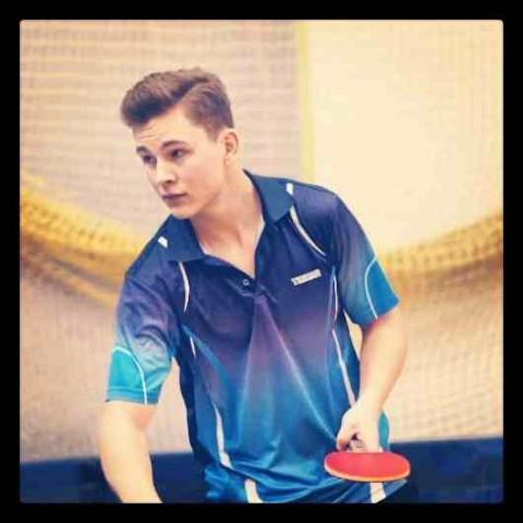 Sport, Marcin Sankowski Mistrz tenisa stołowego Jaktorowa - zdjęcie, fotografia