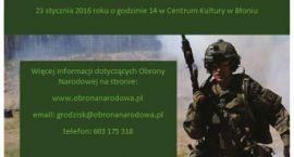 Spotkanie rekrutacyjne w Błoniu do Mazowieckiej Obrony Terytorialnej.
