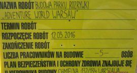Ruszyła budowa... Adventure World Warsaw