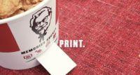 Kubełek KFC wydrukuje zdjęcia