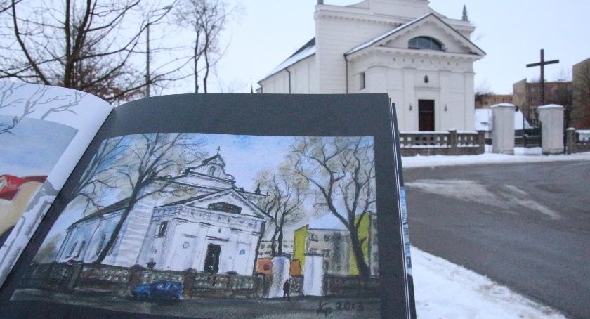 WYDARZENIA, Bielsk Podlaski przeniesiony płótno uwieczniony albumie - zdjęcie, fotografia