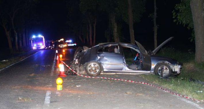 WYPADEK, Śmiertelny wypadek drodze Brańska - zdjęcie, fotografia