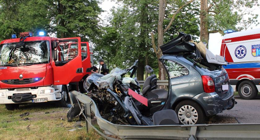 Wypadek, Wypadek okolicach Andryjanek - zdjęcie, fotografia
