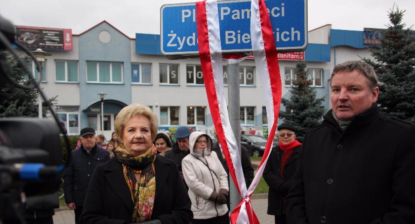 Historia, Uroczystości upamiętniające zagładę społeczności żydowskiej Bielska Podlaskiego - zdjęcie, fotografia