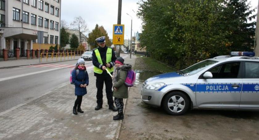 Prewencja , Bielska drogówka bezpieczeństwo pieszych - zdjęcie, fotografia