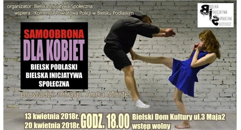 Zapowiedzi - Sport, Samoobrona kobiet Bielsku Podlaskim - zdjęcie, fotografia