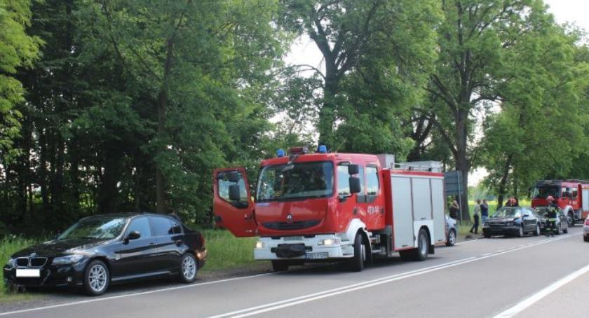 Wypadek, Wypadek okolicach miejscowości Haćki - zdjęcie, fotografia