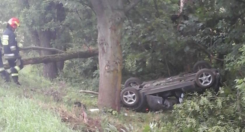 Wypadek, Wypadek okolicach Pilik - zdjęcie, fotografia