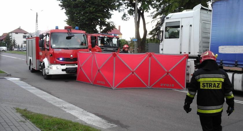 Wypadek, Śmiertelny wypadek Bielsku Podlaskim zablokowana - zdjęcie, fotografia