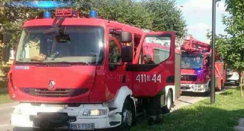 Pożar , Zaskakujący powód ewakuacji bloku Ogrodowej - zdjęcie, fotografia