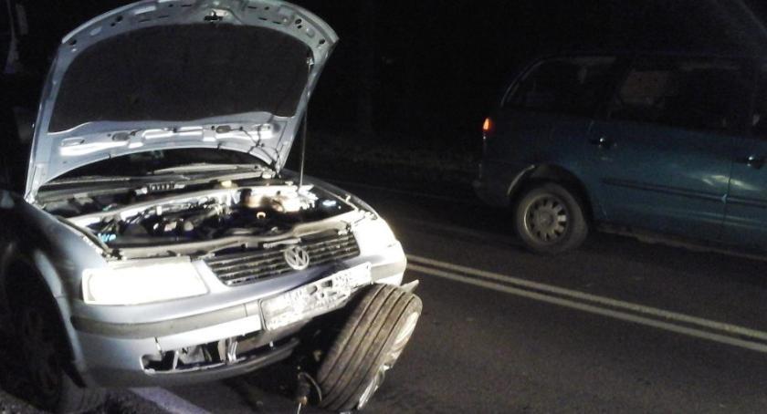 Wypadek, Zderzenie trzech samochodów - zdjęcie, fotografia