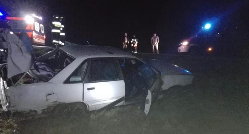 WYPADEK, Wypadek trasie Kalnica Kadłubówka - zdjęcie, fotografia