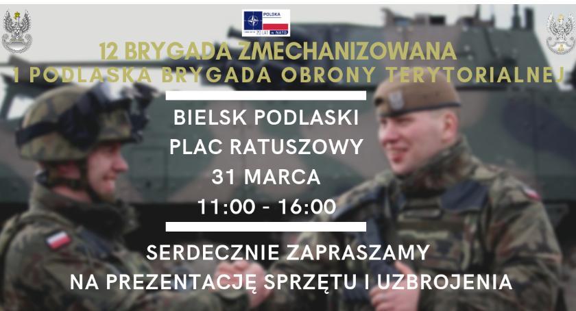 WYDARZENIA, Prezentacja uzbrojenia wojskowego Bielsku Podlaskim - zdjęcie, fotografia
