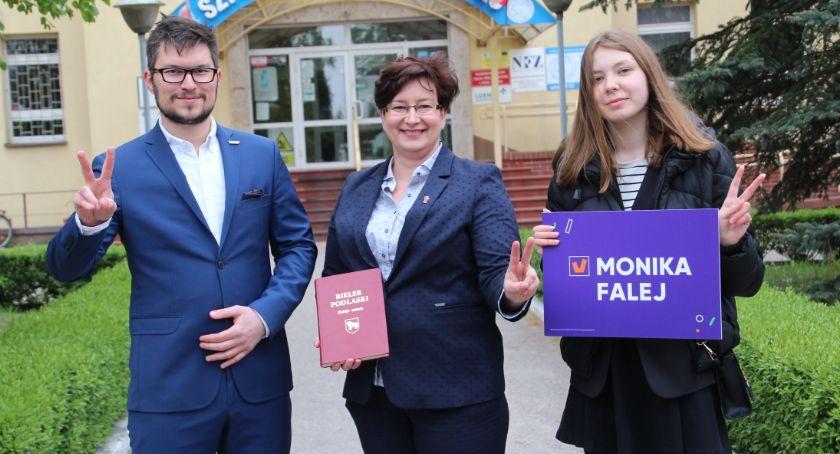 Partia Wiosna: Tomasz Lewczuk, Monika Falej, Wioletta Jakoniuk
