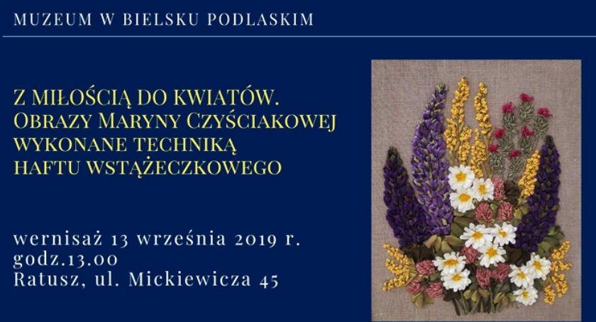 WYSTAWY, miłości kwiatów obrazy Maryny Czyściakowej - zdjęcie, fotografia