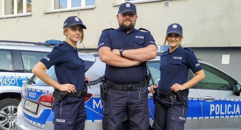 PREWENCJA, policjanci szeregach Bielsku Podlaskim - zdjęcie, fotografia