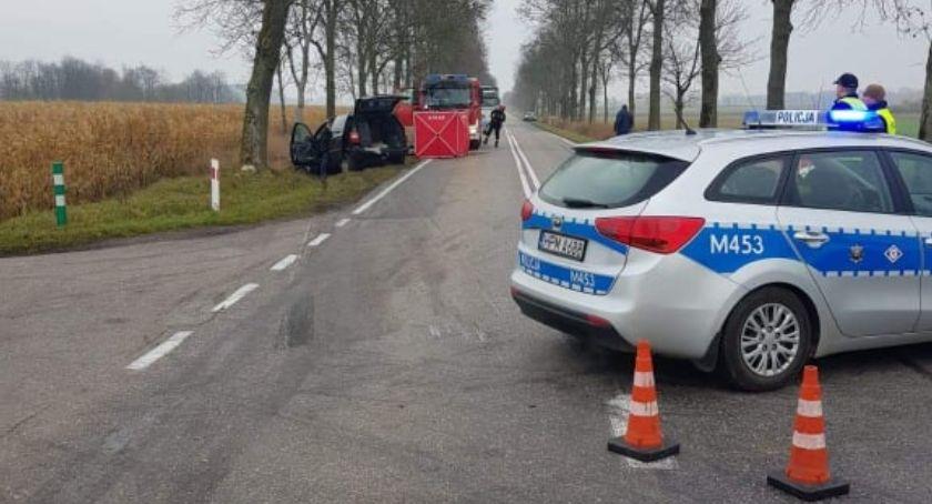 WYPADEK, Śmiertelny wypadek trasie Bielsk Podlaski Hajnówka - zdjęcie, fotografia