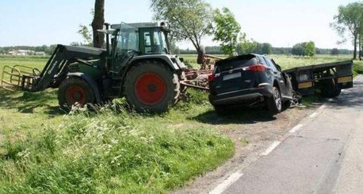 WYPADEK, Wypadek trasie Brańsk Szepietowo - zdjęcie, fotografia