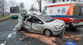 Wypadek na krajowej nr 19 w okolicach wsi Ploski