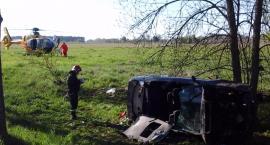 Dziecko i trójka dorosłych ranni w wypadku w okolicach wsi Grabowiec