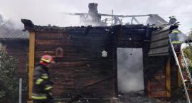 Pożar domu we wsi Bronka