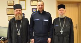Jego Ekscelencja Najprzewielebniejszy Grzegorz, Prawosławny Arcybiskup Bielski wizytuje policję