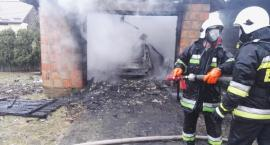 Pożar garażu w Rudce