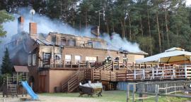 Spłonął ośrodek wypoczynkowy Ptasia Osada w Ploskach