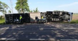 Wypadek w Andryjankach – Tir wpadł do rowu