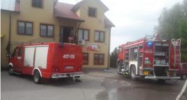 Pożar budynku handlowego w Brańsku