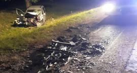 Lewki: Wypadek na DK 66 samochodu osobowego i ciężarówki