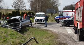Łubin Kościelny: Wypadek dwóch osobówek na DK 66