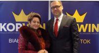 Lilija Moshechkova oraz Szczepan Barszczewski z partii KORWiN spotkali się z mieszkańcami Bielska