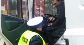 Kontrole pojazdów ciężarowych na drogach powiatu bielskiego