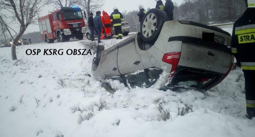 Wypadki drogowe, Wpadła - zdjęcie, fotografia