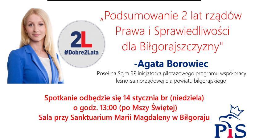 """Wydarzenia, Spotkanie """"Podsumowanie rządów Prawa Sprawiedliwości Bilgorajszyzny"""