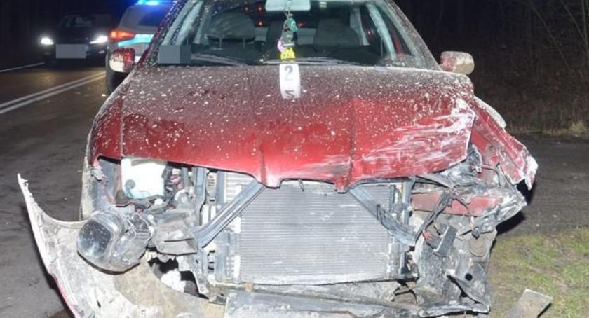 Wypadki drogowe, Wjechał - zdjęcie, fotografia
